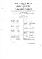 SAMEDI 11 05 1892 AUDITION DES OEUVRES De THEODORE DUBOIS - Programme