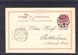 Allemagne - Empire - Carte Postale De 1899 - Entier Postal - Oblitération Metz - Exp Vers Les Pays Bas - Rotterdam - Lettres & Documents