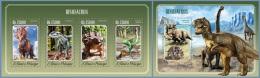 st14505ab S.Tome Principe 2014 Dinosaurs 2 s/s