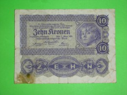 Austria-Hungary Monarchy,zehn Kronen,10 Korona,banknote,paper Money,bill,geld,vintage - Oesterreich
