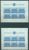 SAN MARINO - 1951 - MNH/*** LUXE - UPU  - Yv BL 5  5a  Mi KLEINBOGEN B C Sassone S. FOGLIETTI 9 11  - Lot 10602