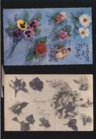 Fantaisie - Divination - Lot De  2 CP - Langage  Des Fleurs  Amour  Botanique - Fantasie