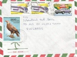 Madagascar 1995 Superviem Odorko Japan Ford Car Eagle Bird Of Prey Cover - Madagaskar (1960-...)