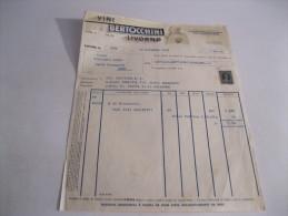LIVORNO Vini Bertocchini FATTURA  Del 1948 Con Marca Da Bollo - Italy