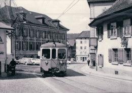Chemin De Fer Suisse, Wynental- Und Suhrentalbahn, Train à Aarau, Photo 1972 BVA 186.6 WSB - Eisenbahnen