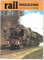 Rail Mag N° 020 MF77; Marc De Caso 4p; Autorails ABJ; Loco Anglaise En France; 4 Photo Au Centre - Eisenbahnen & Bahnwesen