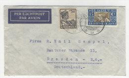 Niederl�ndisch Indien Brief Luftpost nach Deutschland