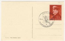 Deutsches Reich Michel No. 772 x mit Sonderstempel auf Karte Hitler Geburtstag