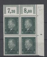 Deutsches Reich Michel No. 444 (*) ohne Gummi Viererblock Eckrand