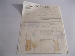 MARSALA  Florio E C  FATTURA  Del 1946 - Italia