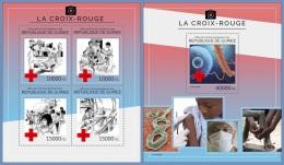gu14409ab Guinea 2014 The Red Cross 2 s/s