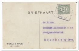 Nederland 1914, Werle & Zoon Deventer, Horseshoes, Horses - Periode 1891-1948 (Wilhelmina)