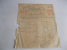IMOLA Fabbricazione Di Maioliche -piastrelle Smaltate  FATTURA  Del 1927 Con Marche Da Bollo - Italie