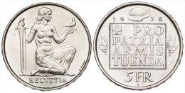 SUIZA  5  FRANCOS 1.936  B  BERNA  KM#41    PLATA/SILVER   SC-/UNC-   DL-11.110 - Suiza