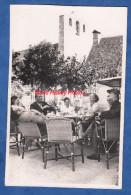 CPA Photo - DOMME - Une Belle Terrasse Prés De L'Eglise - Panneau Relais Gastronomique Durand - France