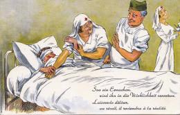 So Ein Erwachen Wird Ihn In Die Wirklichkeit Versetzen 1940 - Rotes Kreuz