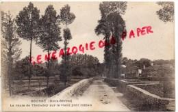 79 -  GOURGE - LA ROUTE DE THENEZAY SUR LE VIEUX PONT ROMAN - Otros Municipios