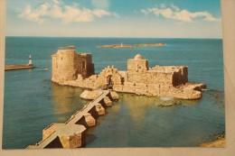 LIBAN LIBANO LEBANON Carte Postale THE SEA CASTLE SIDON - Libanon
