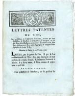 LETTRES PATENTES DU ROI  -  DECRET PORTANT SUR LES POSSESSIONS ET PENSIONS SUR DES BIENS ECCLESIASTIQUES  4  PAGES - Décrets & Lois