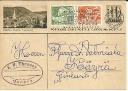 SUIZA ENTERO POSTAL CON MAT GENEVA COPA MUNDIAL DE FUTBOL 1954 DEPORTE - 1954 – Switzerland
