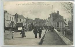 CPA 49 ERIGNE / LES PONTS DE CE / POINT TERMINUS DES TRAMWAYS /L.V.PHOT N°263  BELLE ANIMEE - France