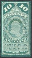 USA, 1867, Newspaper Stamp, 10c Green, Lichtdruck - United States