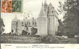 37 - LEMERE - Château Du Rivau, XVè Siècle, Construit  Vers 1460 Par Jacques 1er De Beauvau - Other Municipalities