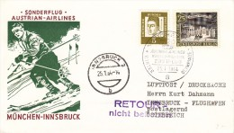 OLYMPISCHE SPIELE-OLYMPIC GAMES, Austria, 1964, Special Olympic Flight !! - Winter 1964: Innsbruck