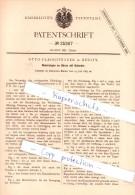 Original Patent  - Otto Fleischhauer In Berlin , 1883 , Neuerungen An Uhren Mit Kalender !!! - Antike Uhren