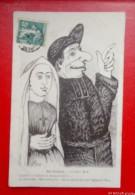 Humour -  En Poitou   - Pretre, Bonne Soeur, Separation Eglise/etat - 1909-   Recto/verso - Humour