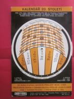 KALENDAR 20. Stoleti pro leta 1800 >> Praha ceskoslovenko calendrier horaire � syst�me � tirette Prague Tch�coslovaquie