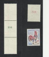 1331c ** Avec N°vert  Et        1331b Avec N° Rouge Au Verso.                T.B.             Authenticité Garantie: !!! - Rollo De Sellos