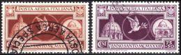 ITALIA 1933 ANNO SANTO POSTA AEREA 2 VALORI SASS. A/54-55 USATI (C210b) - 1900-44 Vittorio Emanuele III