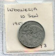 Indonesia 10 Sen 1951