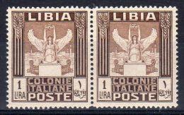 1926, Geflügelte Viktoria Vor Tripolis, Mi-Nr. 62A Im Paar, Neu **, Lot 38236 - Libya