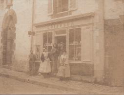Photos 7,5 Par 6 Cm Locminé  Boutique De Coiffeur Rue Du Fil - Photographs