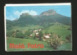 MALA FATRA Slovakia LEPORELLO 13 Cards 7,5 X 10,5 Cm Mountain Range Western Carpathians - Slovacchia