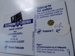 RARE : DOUBLE FRAFFE SUR SIGNORET CINEMA 5 SC5 50U USED CARD - Variëteiten