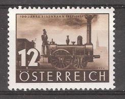 Österreich / Autriche,100 Jahre Eisenbahn, Centenaire Du Train 1837-1937, Locomotive Austria, Yvert N° 503,neuf **/ MNH, - Trains