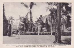 California Los Angeles Front View Of Monastery And Novitiate Of the Order Of Saint John Of God Albertype