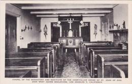 California Los Angeles Chapel Of The Monastery And Novitate Albertype