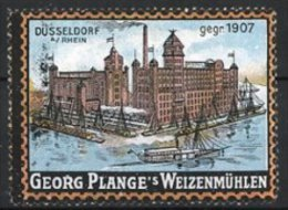 Vignette Publicitaire Georg Plange's Weizenmühlen, Mühle In Düsseldorf - Cinderellas