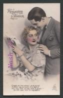 Carte Postale Ancienne -  Messagère D' Amour  ''  ... De Mon Coeur Voici La Messagère ...'' - Couples