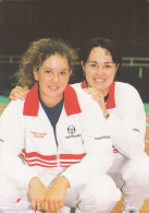 TENNIS : Demi Finale Suisse-France Les 25 Et 26.7.1998 à Sion : Nos Championnes - Sportifs