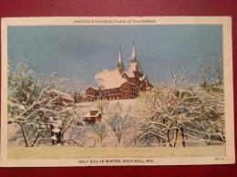 ETATS-UNIS WI HOLY HILL In Winter America's Favorite Place Of Pilgrimage - Etats-Unis
