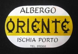 HOTEL PENSAO RESIDENCIAL ORIENTE ISCHIA PORTO TAG DECAL STICKER LUGGAGE LABEL ETIQUETTE AUFKLEBER PORTUGAL - Hotel Labels