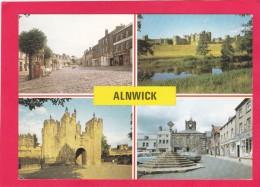 Multi View Postcard Of Alnwick, Northumberland, England, B13. - Unclassified