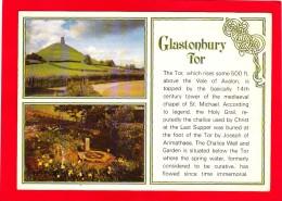Multi View Postcard Of Glastonbury Tor, Somerset, B13. - Angleterre