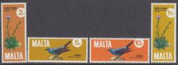 MALTA, 1971 PLANTS/BIRDS 4 MNH - Malte