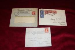 3  ENVELOPPES   AVEC SEMEUSE  LE  9 01 1913 + 10 08 1937+  08 1915 - Autres